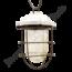 Stoere porseleinen hanglamp met kooi