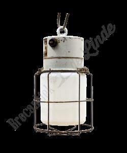 Vintage hanglamp Caged - Melkglas