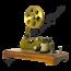 Vintage telegraaf op hout