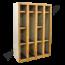 Industriële vakkenkast metaal/hout