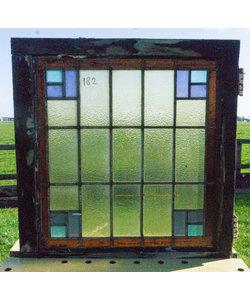 63 x 67,5 cm - Glas in lood raam No. 182
