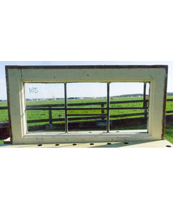 65 x 34,5 cm - Glas in lood raam No. 185