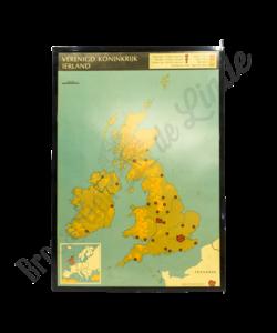 """Oude landkaart """"Verenigd Koninkrijk"""""""
