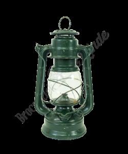Vintage petroleumlampje/ stormlantaarn donkergroen