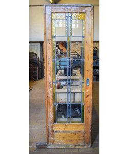 219 x 70,5 cm - Glas in lood deur No. 117