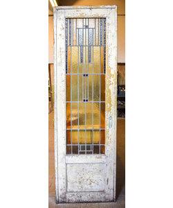 225 x 73 cm - Glas in lood deur No. 118