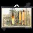 Schoolplaat met schematische weergave staalfabriek