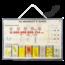 Schoolplaat met schematische weergave cel