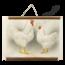 Schoolplaat van een kip
