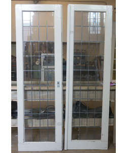 212 x 65 cm - Set glas in lood deuren No. 120/121