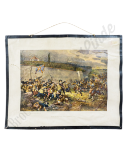 Historische schoolplaat (Battle of white)