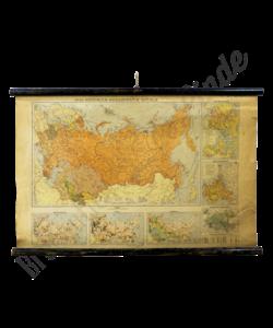 Landkaart Sovjetrepublieken