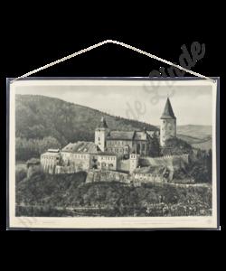 Schoolplaat landschap (Kasteel Krivoklat)