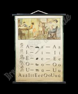Schoolplaat spelling No. 1