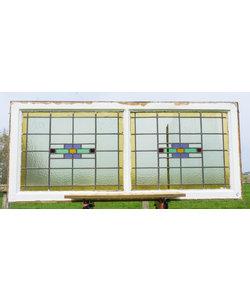 66 x 153,5 cm - Glas in lood raam No. 204