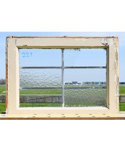43,5 x 58,5 cm - Glas in lood raam No. 221