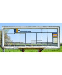 66,5 X 169,5 cm - Glas in lood raam No. 228