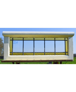 33,5 x 80 cm - Glas in lood raam No. 231