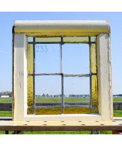 45 x 42,5 cm - Glas in lood raam No. 233