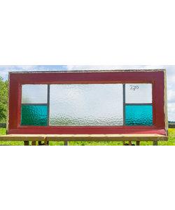 35 x 79,5 cm - Glas in lood raam No. 270