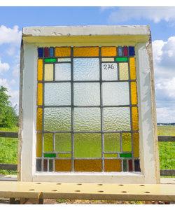 59 x 50 cm - Glas in lood raam No. 276