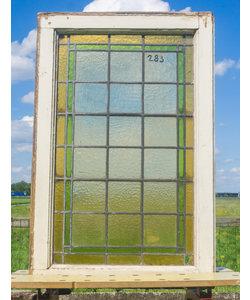 87 x 57,5 cm - Glas in lood raam No. 283