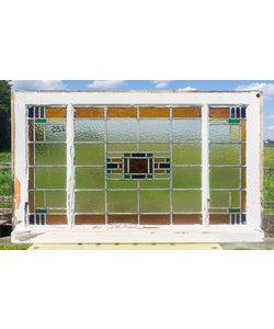 59 x 100 cm - Glas in lood raam No. 285