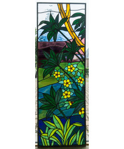 144 x 48 cm - Glas in lood raam Indonesië No. 2