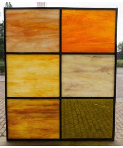 36 x 30 cm - Glas in lood raam indonesië No. 8
