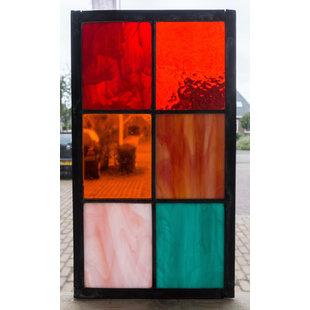 33 x 18,8 cm - Glas in lood raam Indonesië No. 9