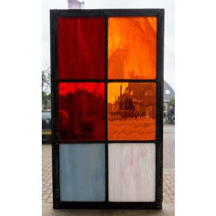 33 x 18,8 cm - Glas in lood raam Indonesië No. 11