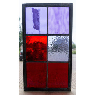 33 x 18,8 cm - Glas in lood raam Indonesië No. 13