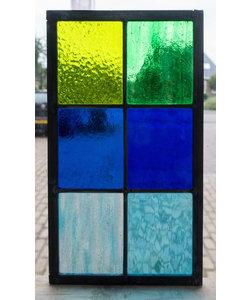 33 x 18,8 cm - Glas in lood raam Indonesië No. 14
