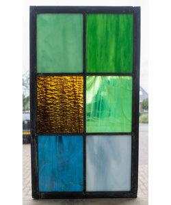 33 x 18,8 cm - Glas in lood raam Indonesië No. 15