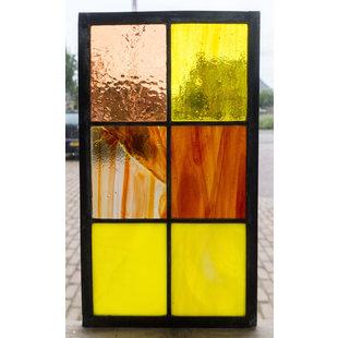 33 x 18,8 cm - Glas in lood raam Indonesië No. 16