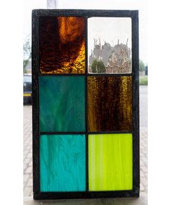 33 x 18,8 cm - Glas in lood raam Indonesië No. 18