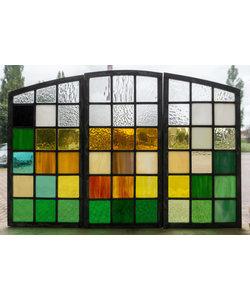 56 x 37,5 cm - Glas in lood raam Indonesië No. 21