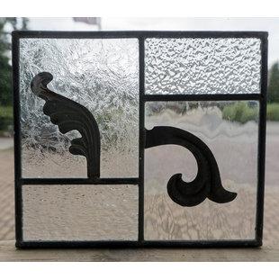 20,5 x 17,5 cm - Glas in lood raam Indonesië No. 22
