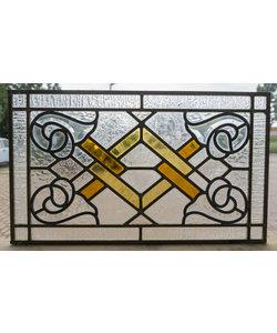 28 x 48,5 cm - Glas in lood raam Indonesië No. 23