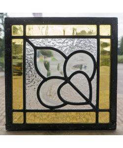 20 x 20 cm - Glas in lood raam Indonesië No. 24