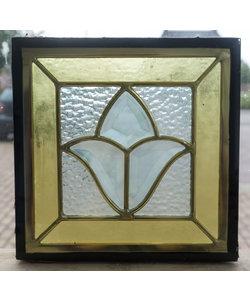 22 x 22 cm - Glas in lood raam Indonesië No. 25