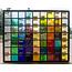 37 x 47 cm - Glas in lood raam Indonesië No. 26