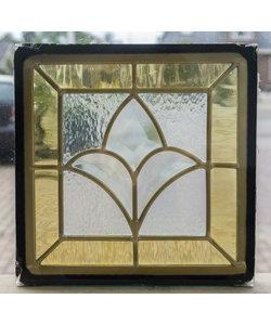 22 x 22 cm - Glas in lood raam Indonesië No. 31