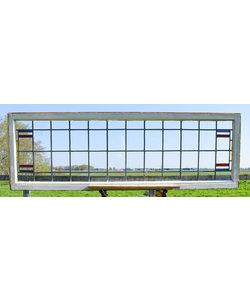 63,5 x 203,5 cm - Glas in lood raam No. 225.1