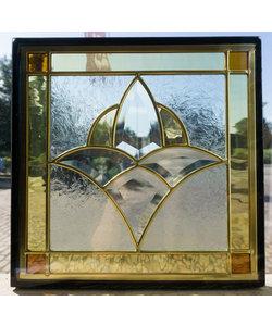 30 x 30 cm - Glas in lood raam indonesië No. 40