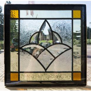 30 x 30 cm - Glas in lood raam Indonesië No. 41
