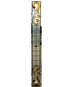 21,5 x 217,5 cm - Glas in lood raam Indonesië No. 51