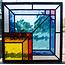 30 x 30 cm - Glas in lood raam Indonesië No. 58