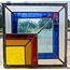 30 x 30 cm - Glas in lood raam Indonesië No. 61