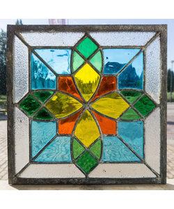 30 x 30 cm - Glas in lood raam Indonesië No. 63